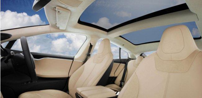 Tesla luxurious interior