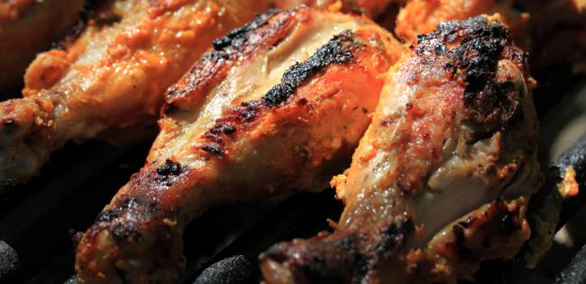herb-encrusted barbecue chicken