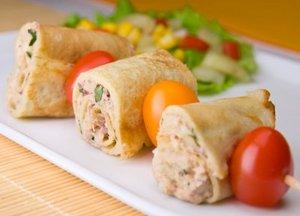 Tuna vegetable pancakes