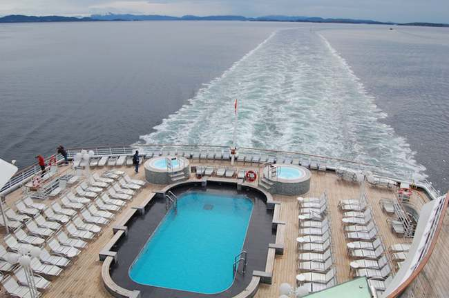 MV Balmoral marquee deck