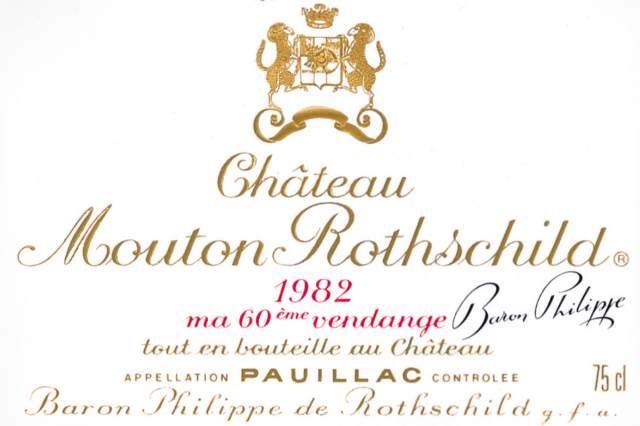 Chateau Mouton Rothschild 1982