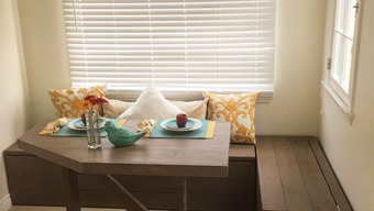 Finding dual purpose furniture for a dining room older for Dual purpose dining room ideas