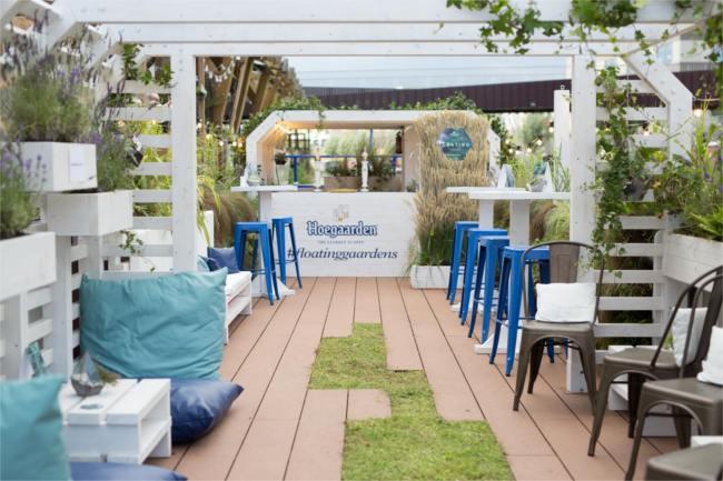 A relaxing summer city escape on Hoegaarden's floating garden