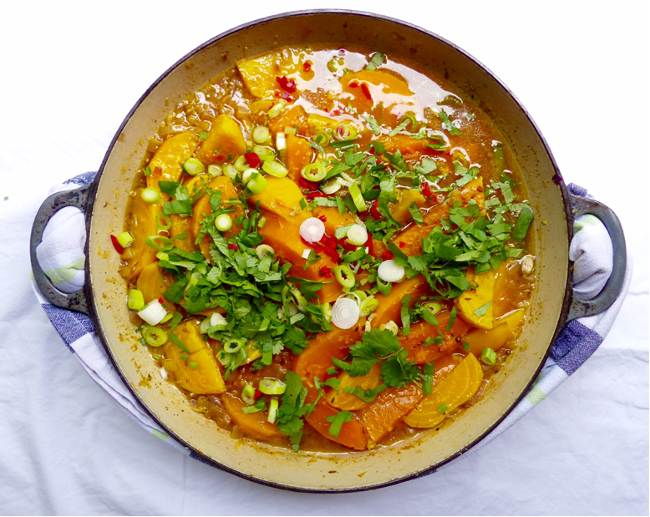 Beetroot and squash stew