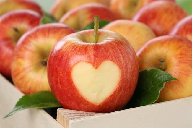 Heart in an apple