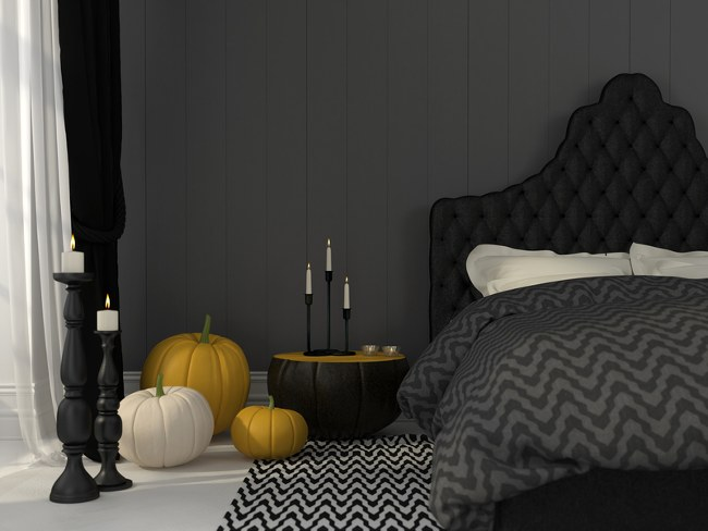 autumn interior bedroom