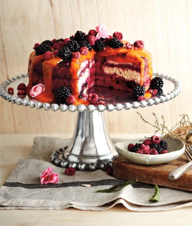 Berry quilt cake