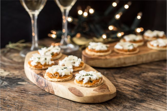 Pumpkin and ricotta tarts with spiced honey