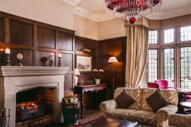 Lough Eske Red Room Fireplace