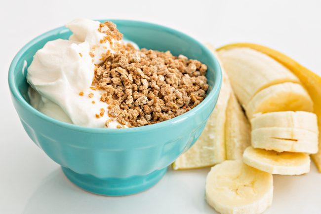 Banana and yogurt
