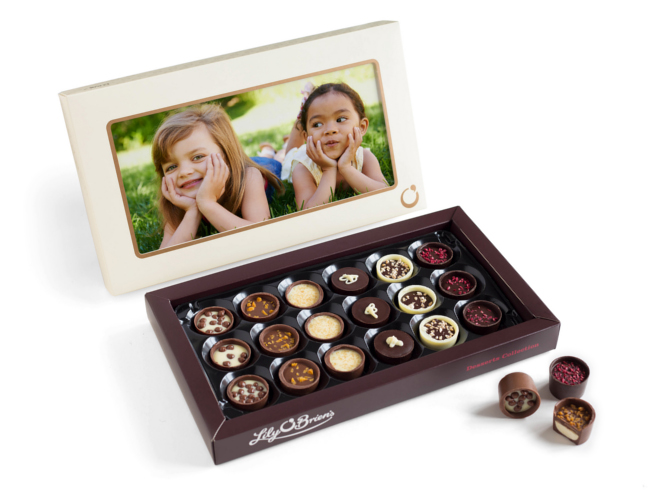 Lily O'Brien's personalised chocolates