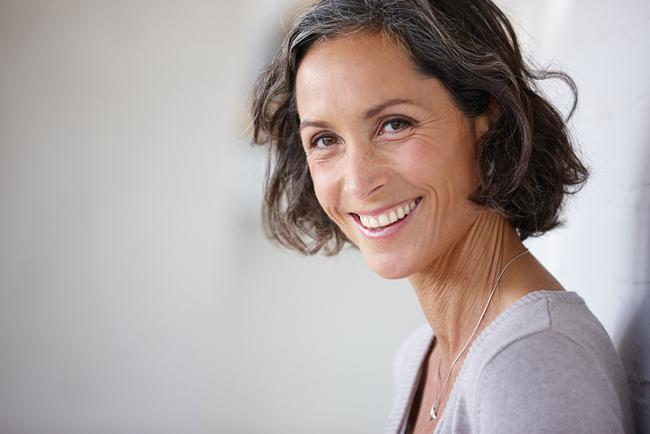 Smiling mature women