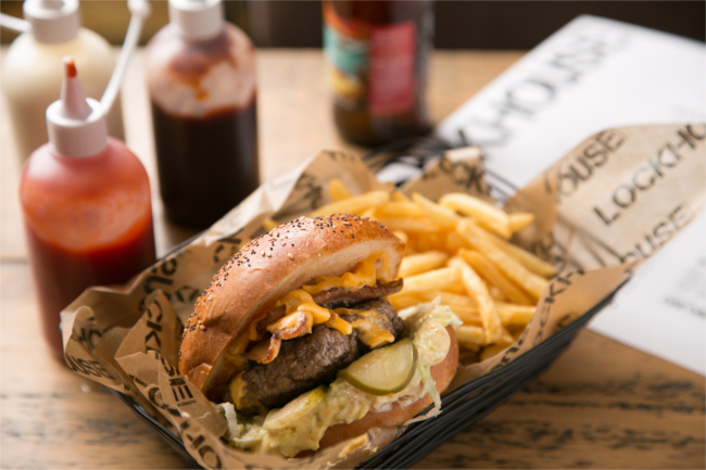 The locked & loaded burger