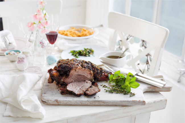 Herb & spice roast leg of lamb