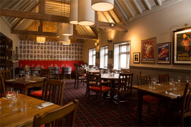 The Carnarvon Arms restaurant