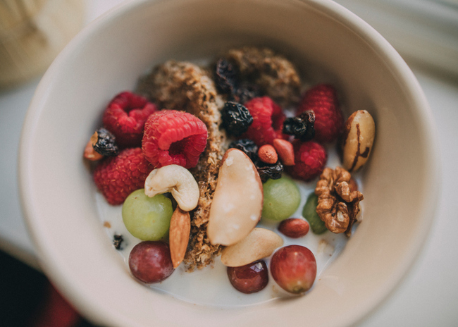 Bowl of fruit and berries