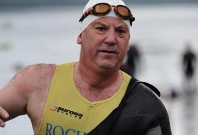 Ian Oliver competing in an IronMan event