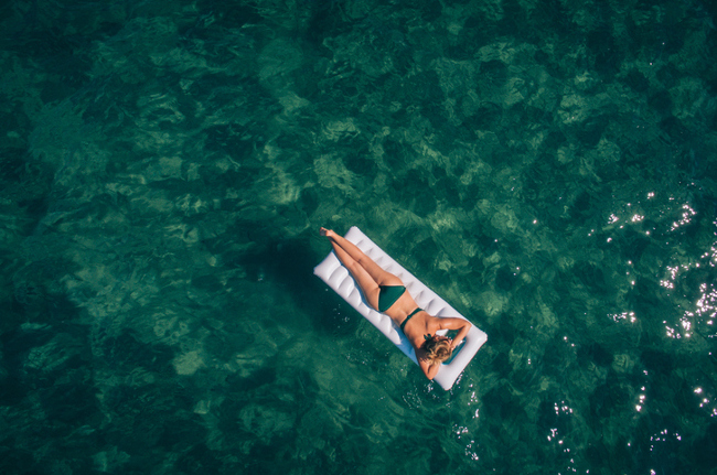 Floating on the sea