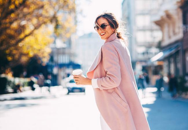 Woman wearing a winter coat