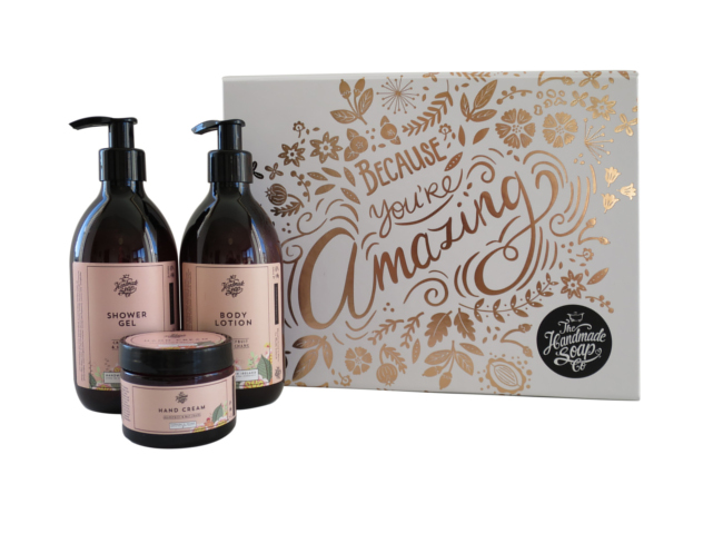 Handmade soap co 'Because You're Amazing' set