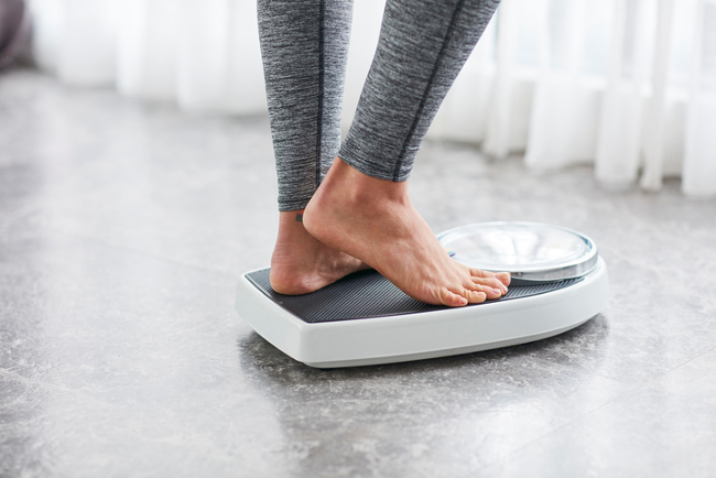 Woman on the scales