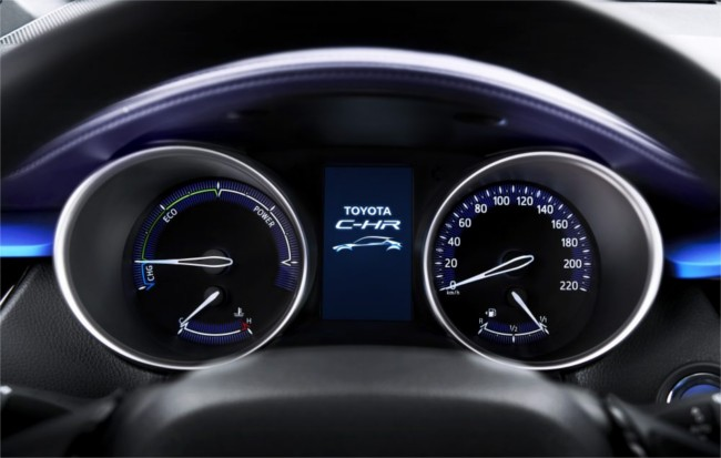 Toyota C-HR dashboard detail