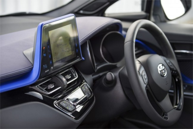 Toyota C-HR media console