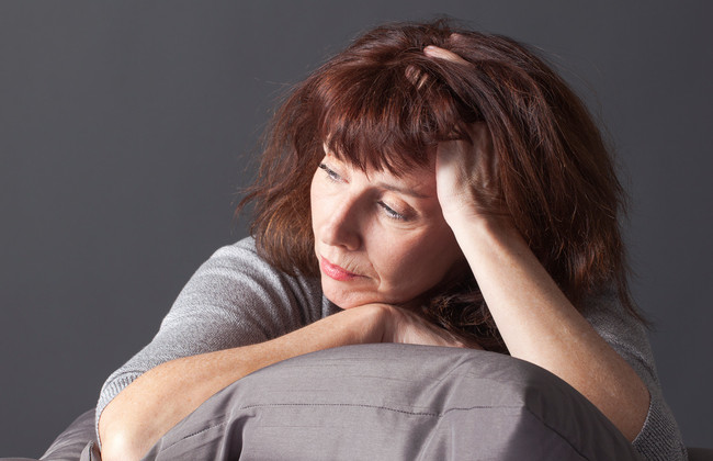Women suffering with menopause