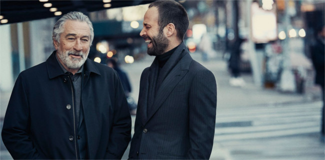 Actor Robert De Niro and dancer Benjamin Millepied in Ermenegildo Zegna  Fall 2017 campaign. Source: Ermenegildo Zegna