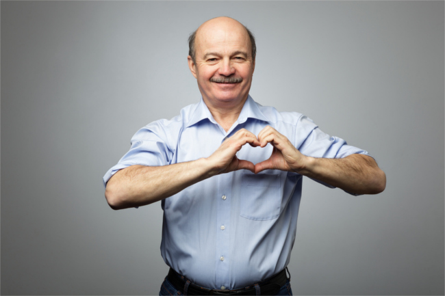 Older man heart health