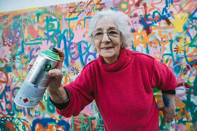 Graffiti grannies
