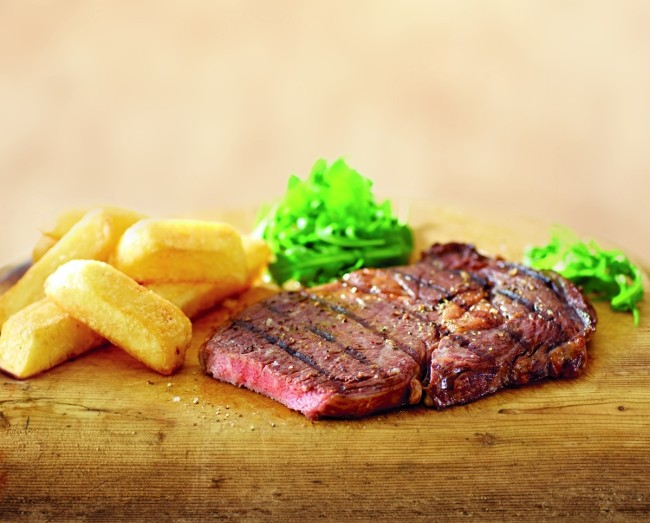 Aldi Wagyu ribeye steak