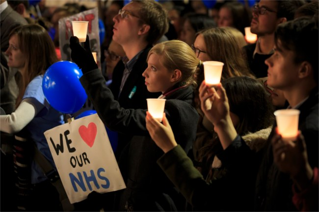 junior doctors protest cuts to the NHS
