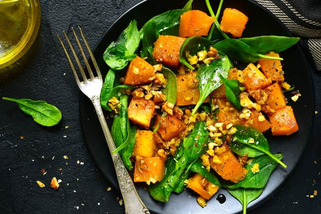 Butternut squash and spinach