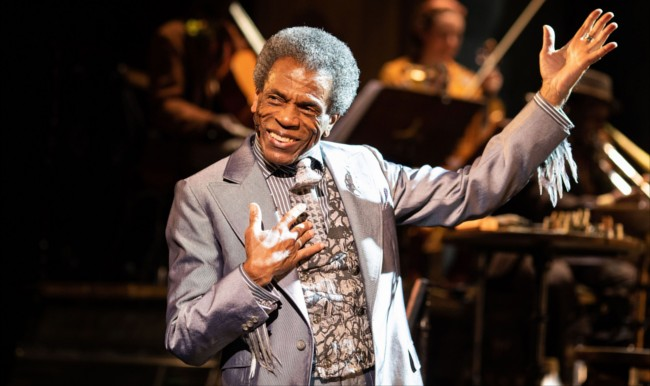 André De Shields (Hermes) in Hadestown at National Theatre (c) Helen Maybanks