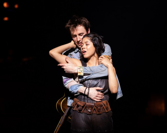 Reeve Carney (Orpheus) and Eva Noblezada (Eu…en Maybanks