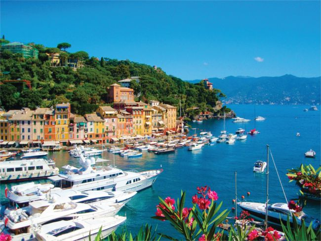 Portofino harbour view