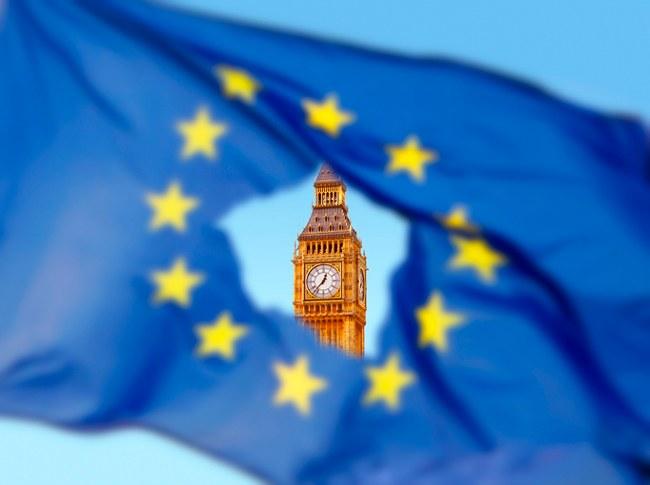 EU flag view of Big Ben