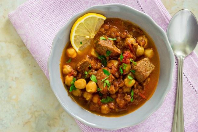 Lamb harira – a Moroccan lamb, chickpea and lentil stew