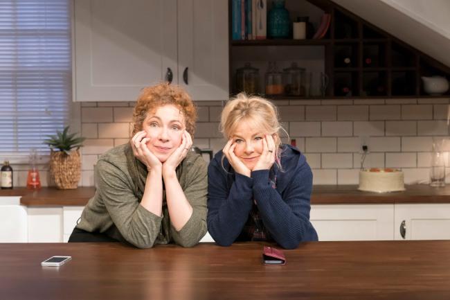 Alex Kingston (Sherri) and Sarah Hadland (Ginnie)