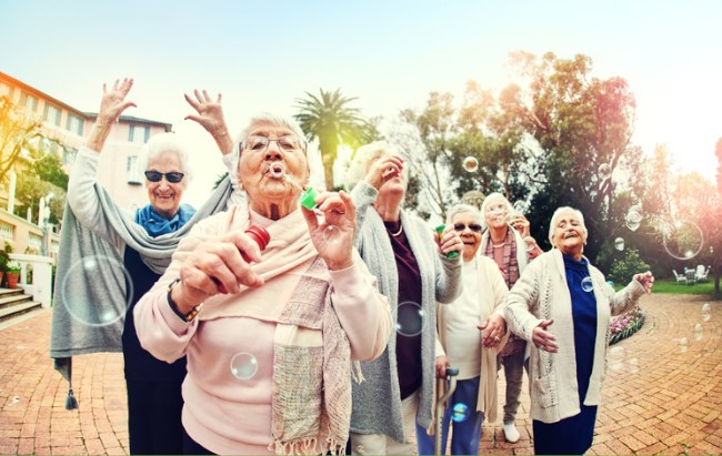 75 is the new 65 - older people