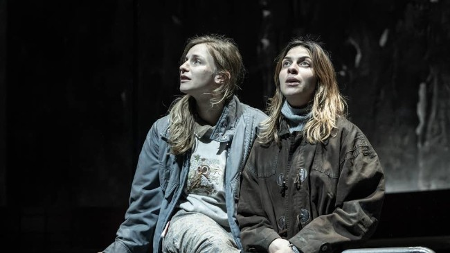 Faye Marsay (Adele) and Natalia Tena (Katia) in Europe at Donmar Warehouse.