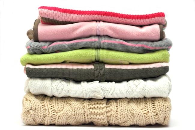 Folded knitwear