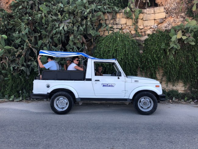 Jeep hire to get around the island