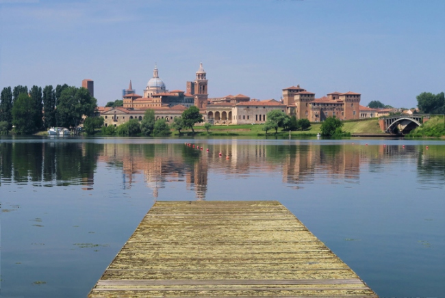 Mantua, Italy, From the Pier at the Lake