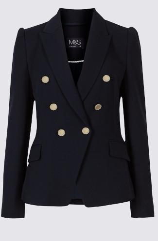 M&S gold button blazer