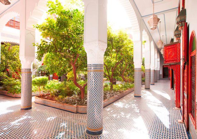 Palais Amani courtyard