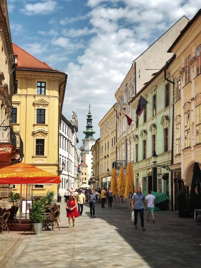 Bratislava cobbled streets