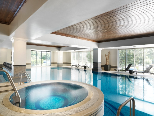 indoor pool and spa facilities
