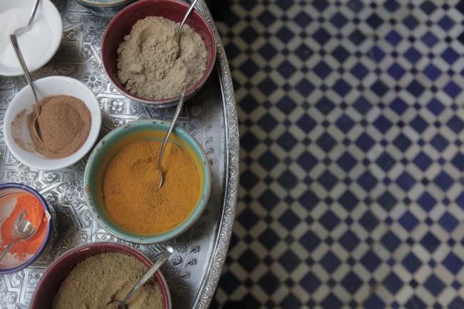 Fez medina spices